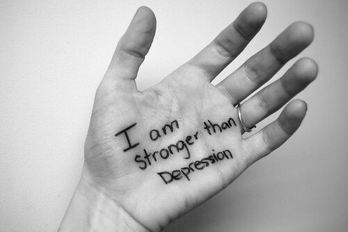 You are stronger than depression hence you can defeat it